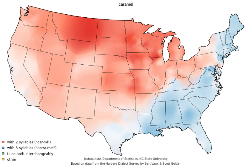 british vs american english pronunciation can geographical data