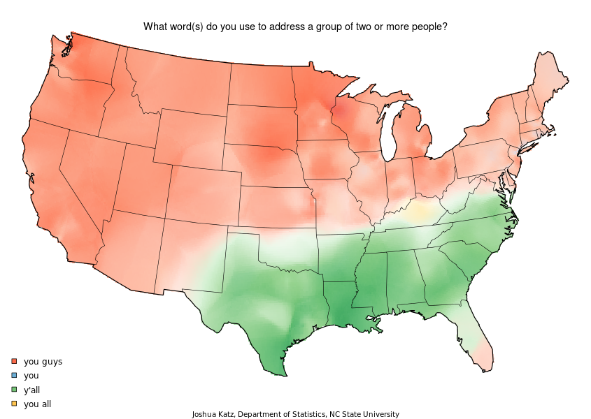 Language Variations The USA May Be United But Its English Is - Divided us map