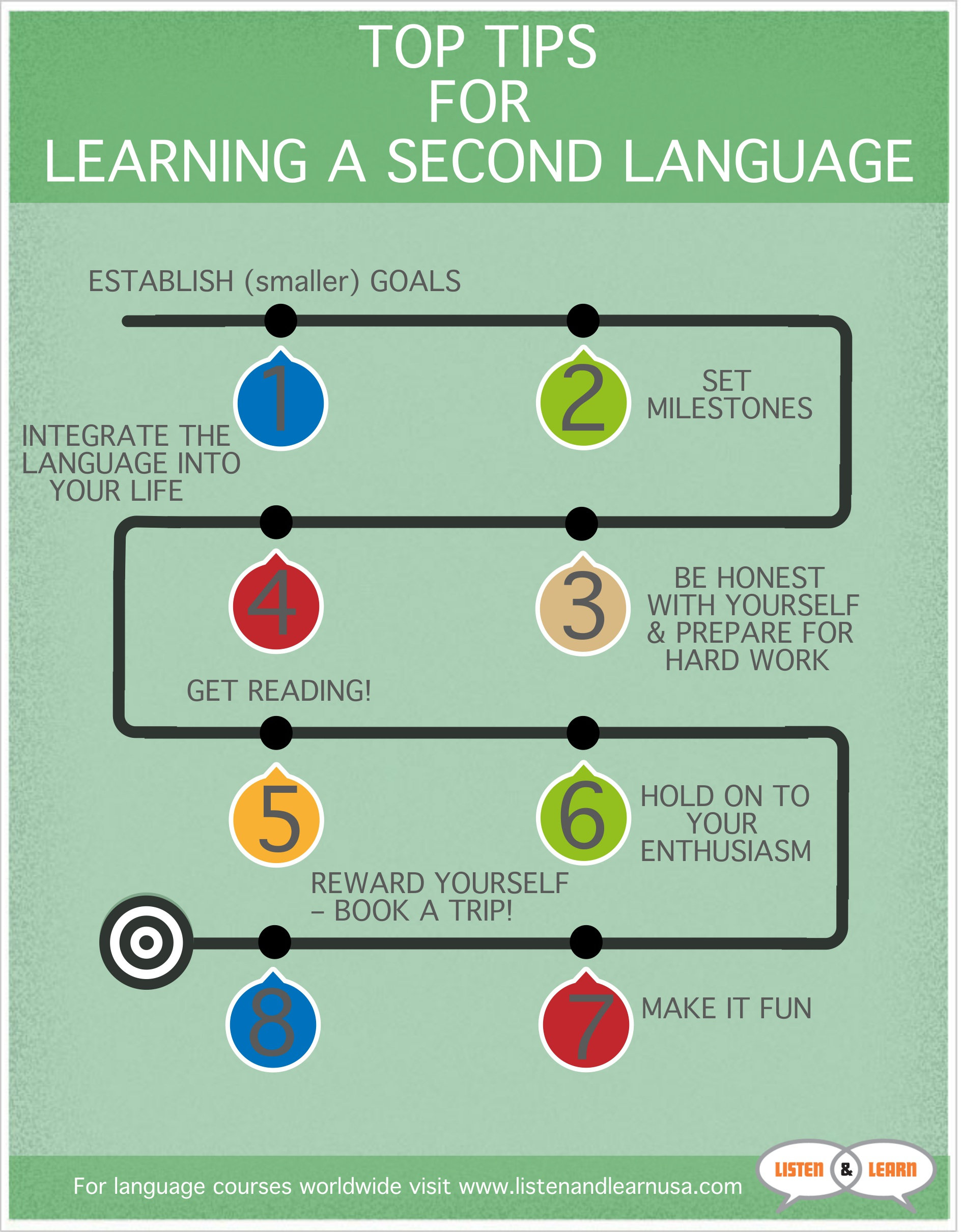 8 Top Tips For Learning A Second Language