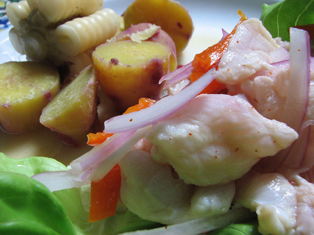 """Cebiche-don-lucho"" by Ledelboy Luis Delboy (Don Lucho) - self-made. Originally published in http://donlucho.com. Licensed under CC BY-SA 3.0 via Wikimedia Commons."