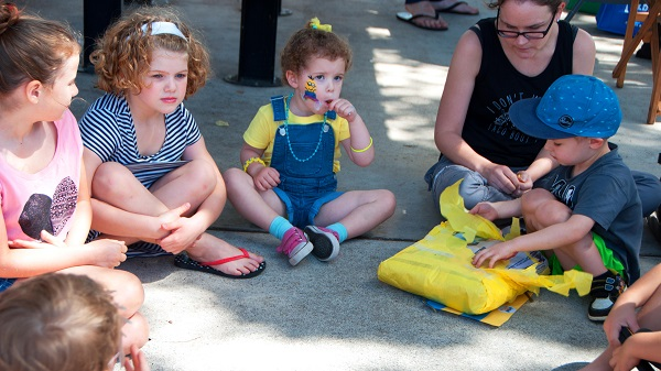 Group of kids on playground