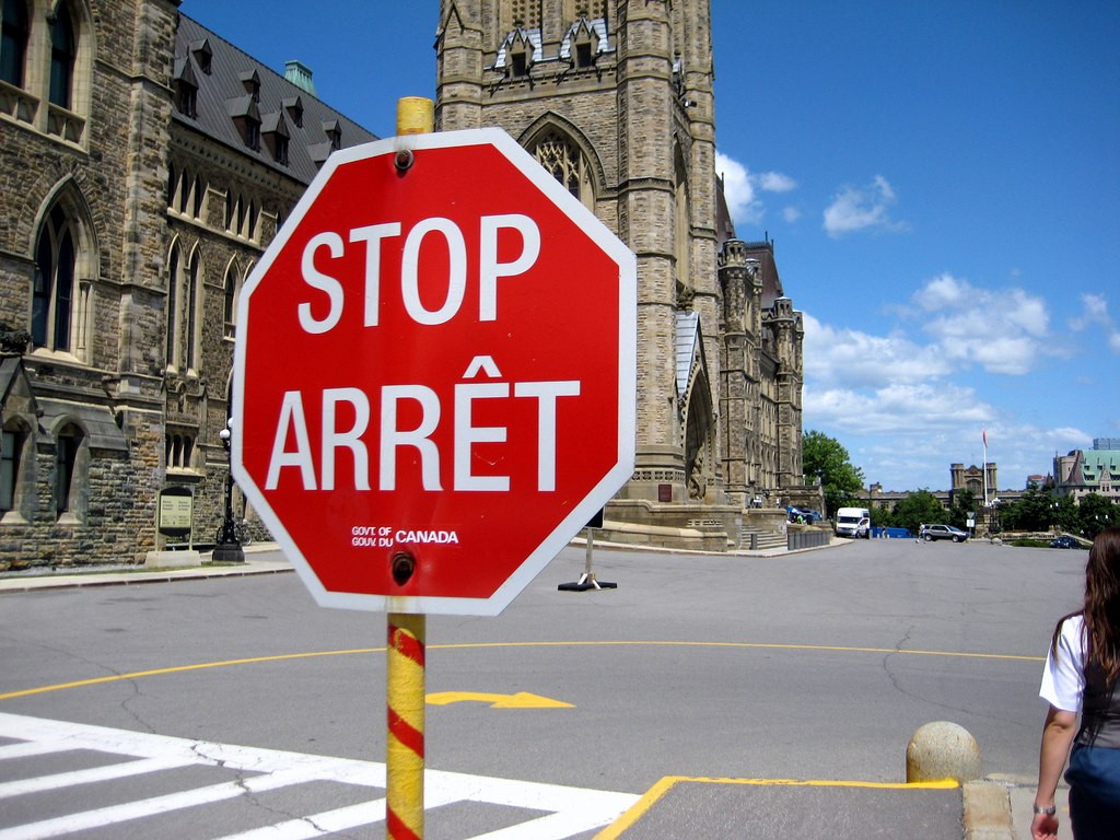 Street signs of Canada