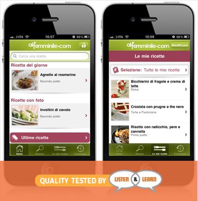 Cucina Alfemminile App Review | Listen & Learn USA & Canada